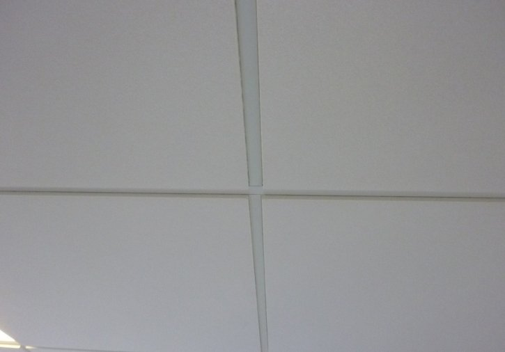 Plafond suspendu dalles semi encastr es orl ans loiret 45 for Plafond suspendu dalle
